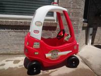 We are selling a Little Tikes Cozy Coupe for $25. It is