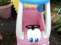 This little car is the Princess version all in pink,