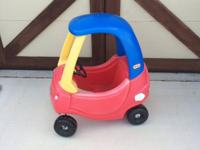 I have a Little Tikes Cozy Coupe for sale. On the