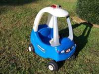 I have for sale a Little Tikes ride-in police car for