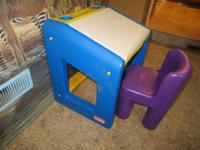 top lifts for storage space.  sturdy chair (purple)