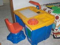 For sale is a LITTLE TIKES desk and chair -with a