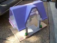 Little Tikes Dollhouse with purple roof for $20.00.