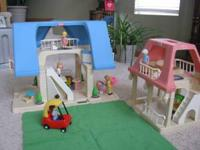 little tikes vintage doll houses with all acc. in