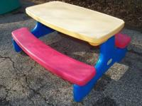 Little Tikes fold store picnic table Normal wear and