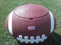 This vintage Little Tikes football has been used for a