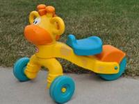Kids will love this giraffe ride on toy! It is so