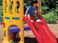 little tikes hide and seek slide. only had one year