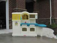 Little Tikes Kitchen with dishes and extra play food in