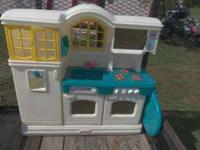 I HAVE A LITTLE TIKES KITCHEN SET WITH PLAY FOOD AND