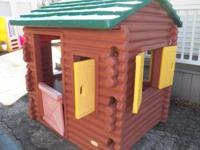 Little Tikes Log Cabin Very rarely used. Normal wear