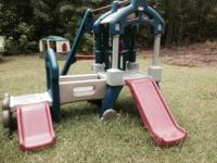 Outdoor play ground in terrific condition, kids have
