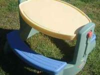 In good condition, a Little Tikes Picnic Table. If