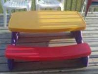 Little Tikes Picnic Table...great for both indoor and