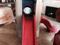 Very clean little tikes playground. Been in garage all