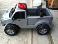 Little Tikes Powerwheels Ford F-150 Silver Pickup Truck
