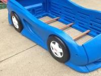 This is a great young boys twin size car bed by Little