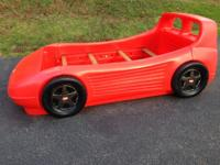 Red Race Car Bed with Toy Storage!! This is for a twin
