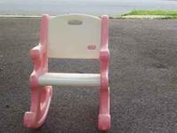 little tikes pink and white rocking chair. good