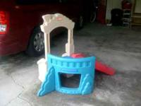 HI, WE ARE SELLING OUR SONS LITTLE TIKES SLIDE/CLIMBER.