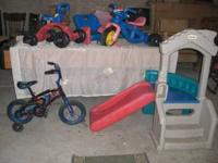 Little Tikes Slide $50.00 Little Tike Trike $10.00