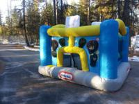 Nearly New Little Tikes Sports themed Bounce House-