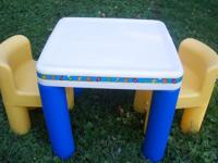 Little Tikes Tables and chairs set $30. firm thanks