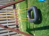 Little tikes plastic tire swing for an outdoor swing
