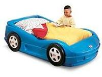 Little tikes toddler car bed with mattress. $50.00.