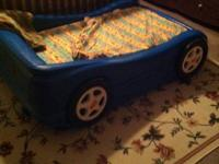 Made use of, little tikes young child bed, with plywood