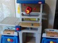 I have a Little tikes tool bench with two smaller side