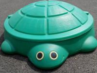 Turtle Sandbox w/lid  Hodge-Podge resale Shope  Open