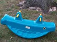 For sale is a little tikes Whale Teeter Totter for two.