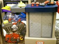Tikes Tough Workshop like new and Craftsman Toy Harley