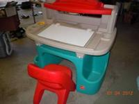 Little Tikes Lighted Art Desk With Swivel Chair For Sale