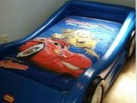 Car's Toddler Bed little tykes Mattress and Sheets Set