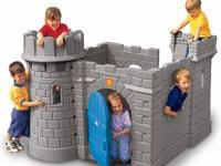 Castle design features realistic stone facade with a