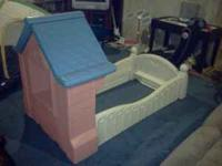 For sale is a little tykes cottage toddler bed. It does