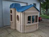 Large Little Tykes Playhouse -- like new. Originally