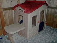 In great condition! It's a playhouse with a removable