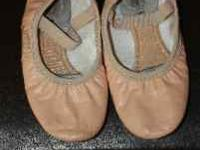 Little Girl Leather Ballet Shoes (Revolution) - Size 1M
