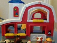 Little People farm, makes barnyard sounds, workshop and