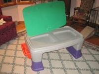 LITTLE TIKES EASY ADJUST PLAY TABLE WITH SIDE STORAGE