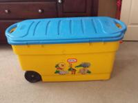 I have 2 little tikes toy boxes. Blue and white $30