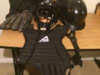 I have this catchers Pad and Helmet with face guard. We