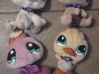 I have 4 littlest pet shop stuffed animals. they are in