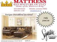 LIVE LIKE A KING, $999.99~ Leather Sectional~DuraBlend