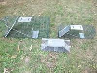 I HAVE 3 LIVE TRAPS, BRAND NEW LARGE AND MED. SIZE, GFA