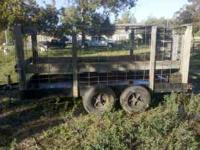 I have a 5'x14' livestock trailer for sale. Good for