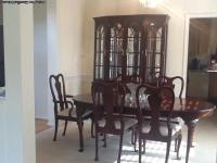 DOWNSIZING: furniture available, CHERRY DINING ROOM SET